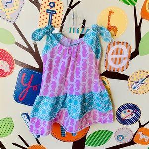 Flap Happy Seahorse Ruffle Dress 24 months EUC
